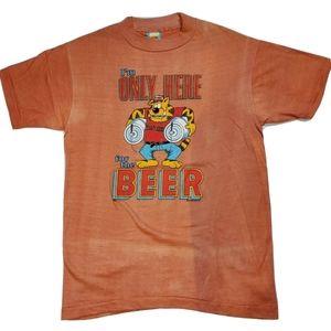 Vintage Tiger For The Beer Keg T Shirt Size Medium